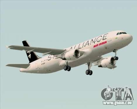 Airbus A320-200 Air India (Star Alliance Livery) pour GTA San Andreas vue arrière