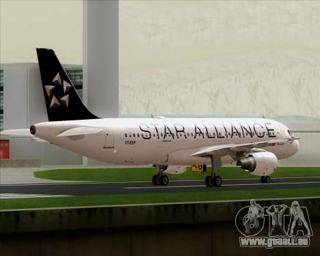 Airbus A320-200 Air India (Star Alliance Livery) für GTA San Andreas Unteransicht