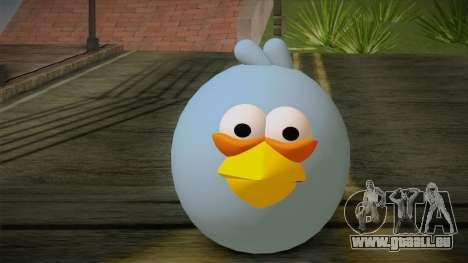 Blue Bird from Angry Birds pour GTA San Andreas troisième écran