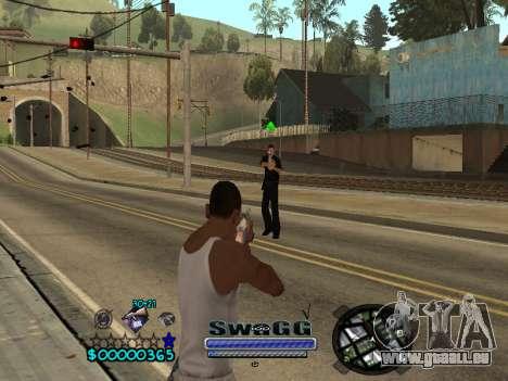 CLEO HUD SWAGG pour GTA San Andreas troisième écran