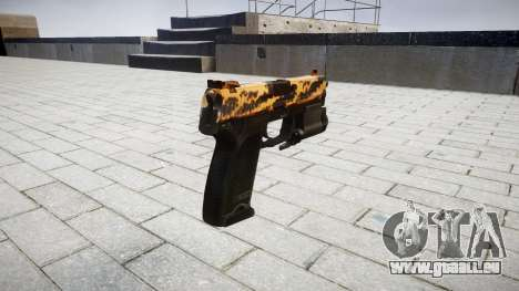 Pistole HK USP 45 tiger für GTA 4 Sekunden Bildschirm