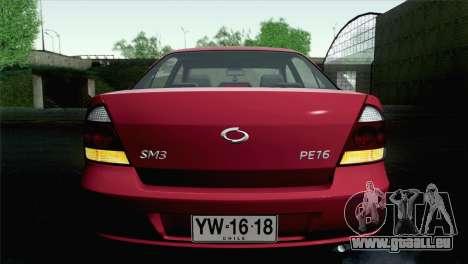 Renault Samsung SM3 2007 pour GTA San Andreas vue intérieure
