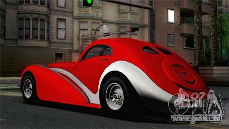 GTA V Truffade Z-Type [IVF] pour GTA San Andreas laissé vue