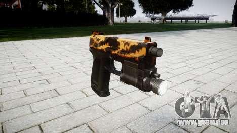 Pistole HK USP 45 tiger für GTA 4