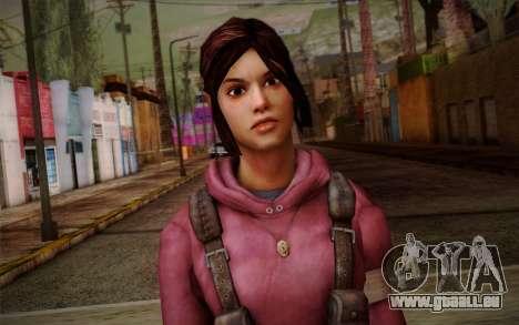 Zoey from Left 4 Dead Beta für GTA San Andreas dritten Screenshot
