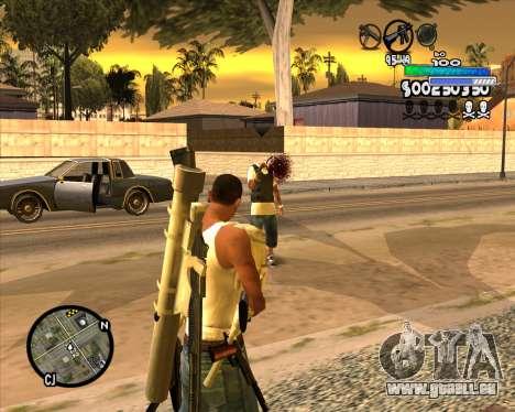 С-la PALETTE de Métro pour GTA San Andreas troisième écran