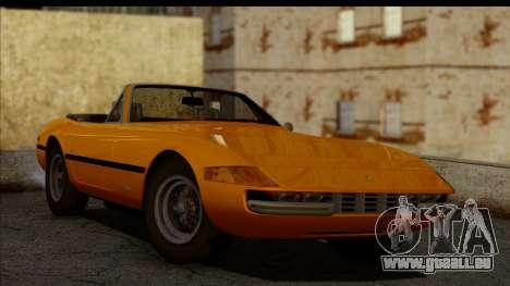 Ferrari 365 GTS4 Daytona (US-spec) 1971 pour GTA San Andreas sur la vue arrière gauche