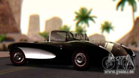 Chevrolet Corvette C1 1962 PJ pour GTA San Andreas laissé vue