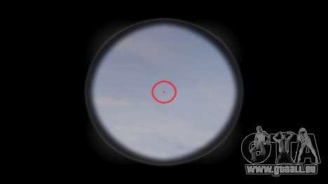 Fusil AR-15 CQB cible d'un aimpoint pour GTA 4 troisième écran