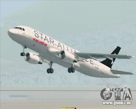 Airbus A320-200 Air India (Star Alliance Livery) pour GTA San Andreas