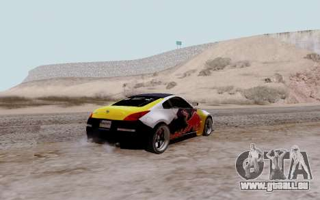 Nissan 350Z Red Bull pour GTA San Andreas laissé vue