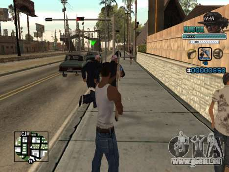 C-HUD Mann in einem Cap für GTA San Andreas dritten Screenshot
