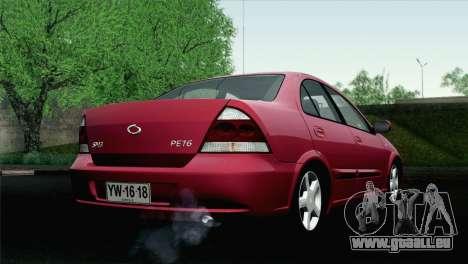 Renault Samsung SM3 2007 pour GTA San Andreas laissé vue