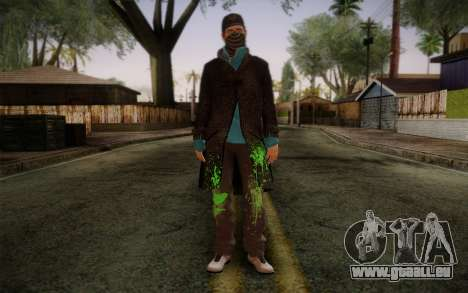 Aiden Pearce from Watch Dogs v3 pour GTA San Andreas