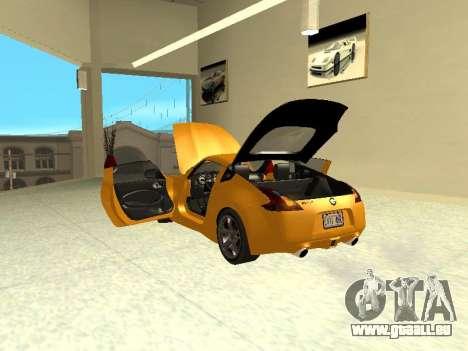 Nissan 370 Z Z34 2010 Tunable für GTA San Andreas Innenansicht