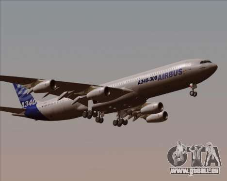 Airbus A340-300 Airbus S A S House Livery für GTA San Andreas Innenansicht