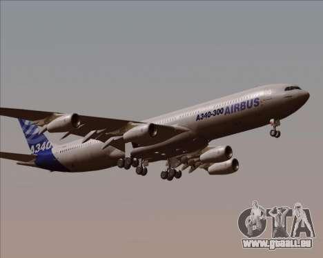 Airbus A340-300 Airbus S A S House Livery für GTA San Andreas Innenansicht