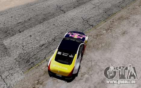 Nissan 350Z Red Bull für GTA San Andreas Innenansicht