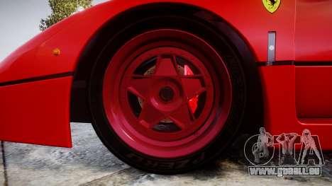 Ferrari F40 1987 [EPM] Tricolore pour GTA 4 Vue arrière