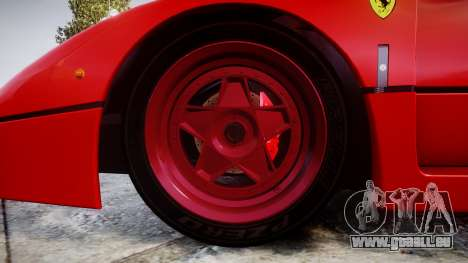 Ferrari F40 1987 [EPM] Tricolore für GTA 4 Rückansicht