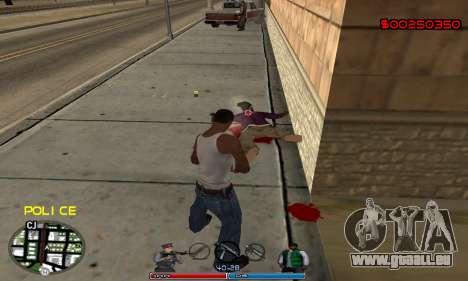 C-HUD Police für GTA San Andreas dritten Screenshot