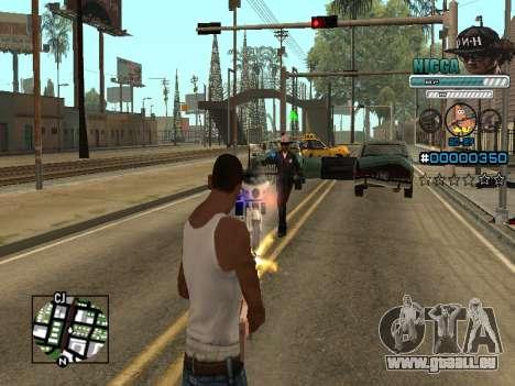 C-HUD Mann in einem Cap für GTA San Andreas fünften Screenshot
