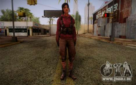 Zoey from Left 4 Dead Beta pour GTA San Andreas