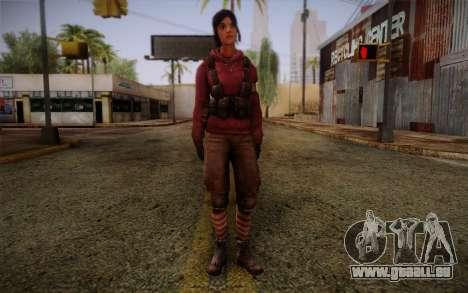 Zoey from Left 4 Dead Beta für GTA San Andreas