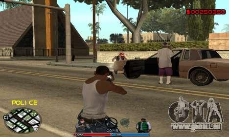 C-HUD Police pour GTA San Andreas quatrième écran