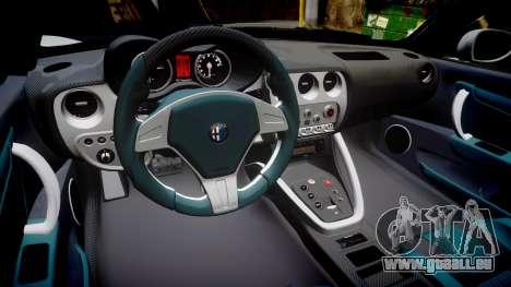 Alfa Romeo 8C Competizione 2008 pour GTA 4 est une vue de l'intérieur