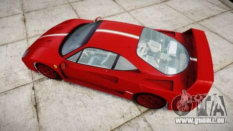Ferrari F40 1987 [EPM] Tricolore für GTA 4 rechte Ansicht