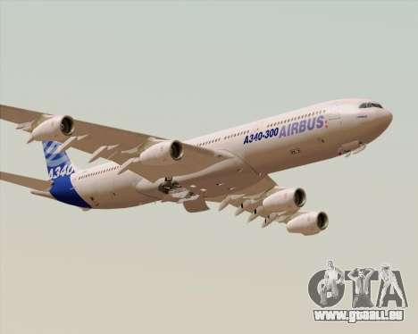 Airbus A340-300 Airbus S A S House Livery pour GTA San Andreas vue de dessous