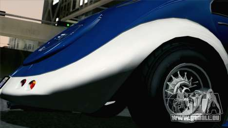 GTA V Truffade Z-Type [HQLM] pour GTA San Andreas sur la vue arrière gauche