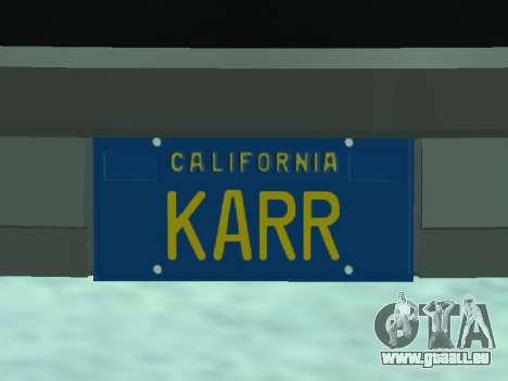 Pontiac Trans-Am K. A. R. R. pour GTA San Andreas vue arrière
