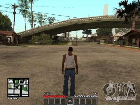 C-Hud Minecraft pour GTA San Andreas deuxième écran