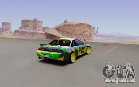 Nissan Silvia S14 Hunter pour GTA San Andreas sur la vue arrière gauche