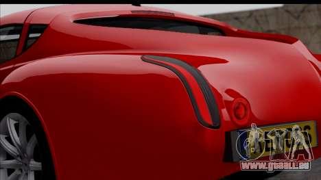 Morgan AeroSS 2013 v1.0 pour GTA San Andreas vue arrière