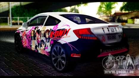 Honda Civic SI 2012 Itasha K-ON pour GTA San Andreas laissé vue