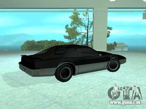 Pontiac Trans-Am K. A. R. R. pour GTA San Andreas laissé vue