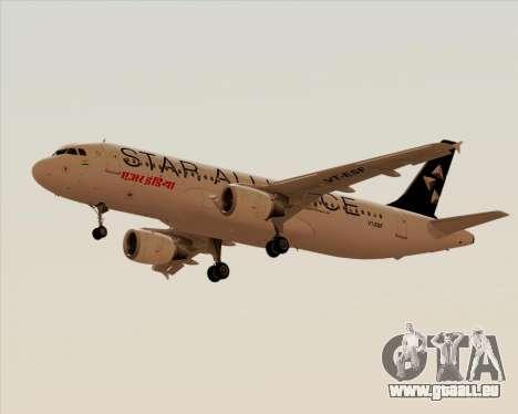 Airbus A320-200 Air India (Star Alliance Livery) pour GTA San Andreas laissé vue