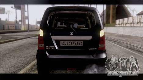 Suzuki Wagon R 2010 pour GTA San Andreas vue intérieure