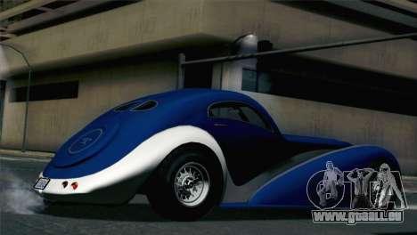 GTA V Truffade Z-Type [HQLM] pour GTA San Andreas laissé vue