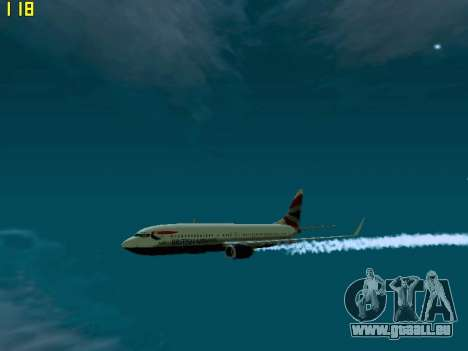 Boeing 737-800 British Airways pour GTA San Andreas