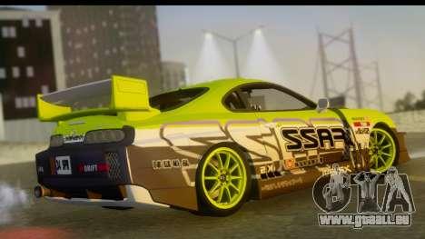 Toyota Supra Drift pour GTA San Andreas laissé vue