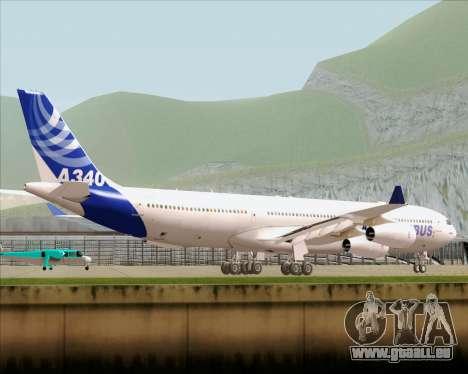 Airbus A340-300 Airbus S A S House Livery pour GTA San Andreas sur la vue arrière gauche