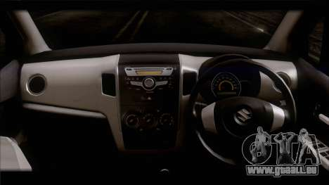 Suzuki Wagon R 2010 pour GTA San Andreas sur la vue arrière gauche