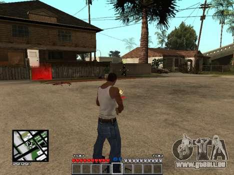 C-Hud Minecraft für GTA San Andreas dritten Screenshot