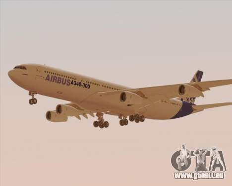 Airbus A340-300 Airbus S A S House Livery für GTA San Andreas Seitenansicht