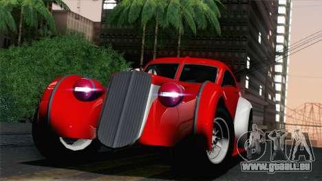 GTA V Truffade Z-Type [IVF] pour GTA San Andreas sur la vue arrière gauche