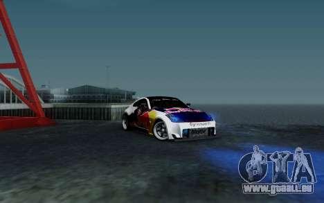 Nissan 350Z Red Bull pour GTA San Andreas vue de côté